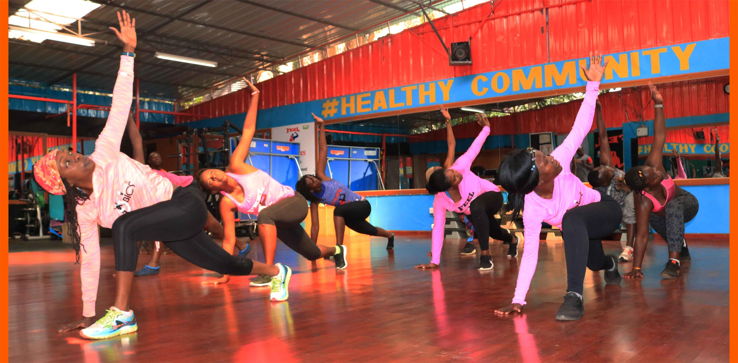 afrobics dance class
